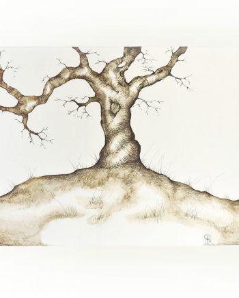 Originální kresba stromu na louce