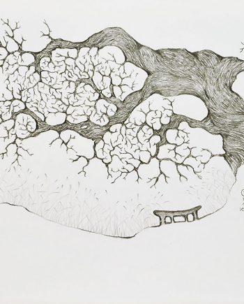 Originální kresba posezení pod stromem