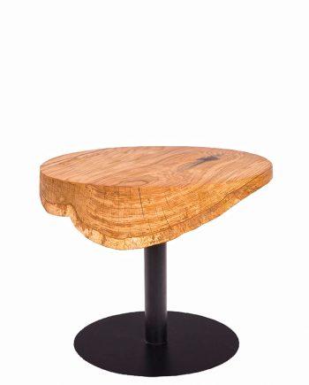 Kulatý dubový stůl na centrální noze