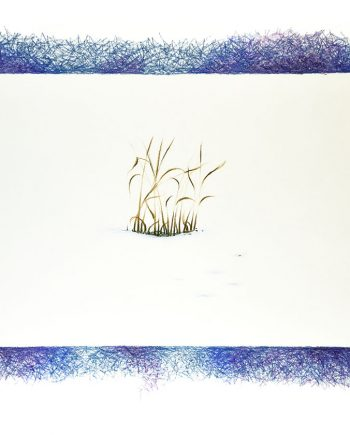 Originální kresba s motivem zimy